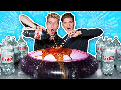 Wubble Bubble Vs Diet Coke Mentos Experiment!