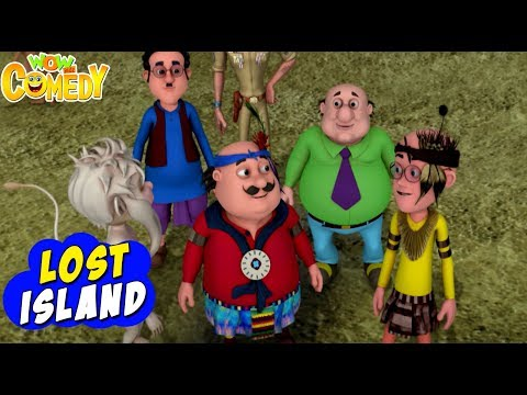 Motu Patlu- EP34B | Lost Island | Funny Videos For Kids | Wow Kidz Comedy