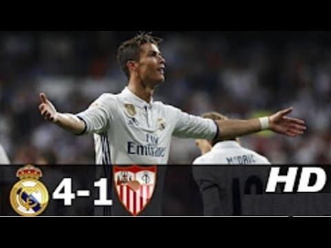 Real Madrid vs Sevilla 4-1 All Goals 2017 14-05-2017 HD