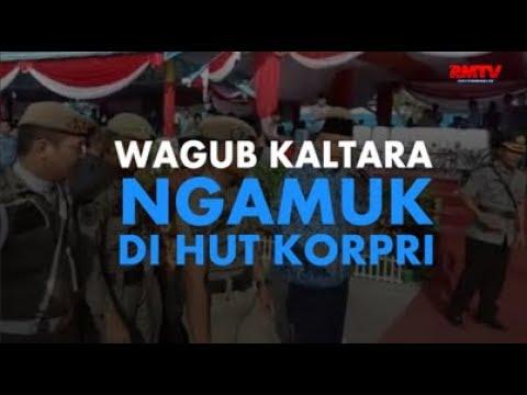 Wagub Kaltara Ngamuk Di HUT Korpri