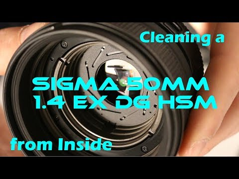 Cleaning a Sigma 50mm 1.4 EX DG HSM from inside!