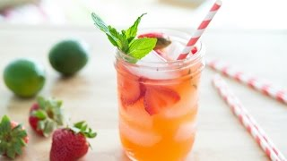 STRAWBERRY LIMEADE RECIPE - (FAN-REQUESTED NON-ALCHOLIC DRINK MINISERIES) Fifteen Spatulas - YouTube