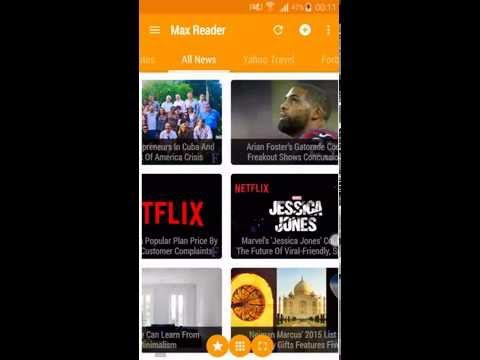 Best Android App For Reading News - Max Reader - RSS News Reader - RSS Feed Reader For Android