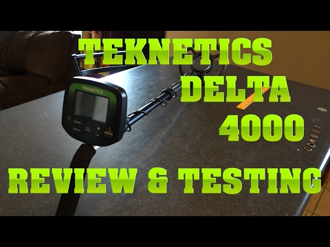 Metal Detecting:  Teknetics Delta 4000 Review and Testing
