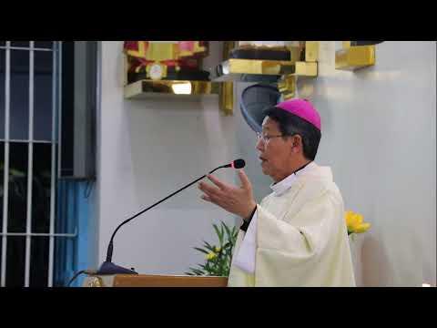 Đức Cha Phêrô Nguyễn Văn Khảm giảng lễ tại Myanmar, 28.11.2017