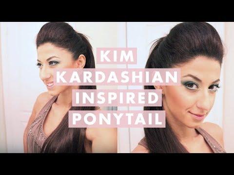 Kim Kardashian High Ponytail Hairstyle