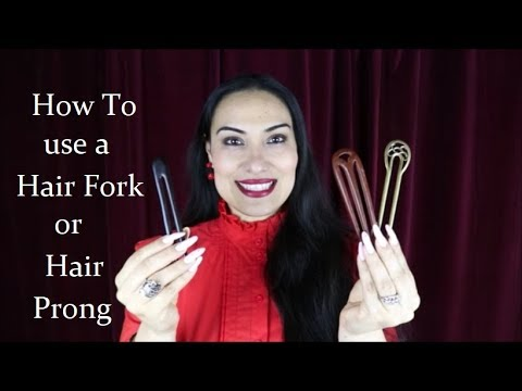 Hairstyles for long hair - 3 Easy Bun Hairstyles Using a Hair Prong   Hair Fork For Long Hair