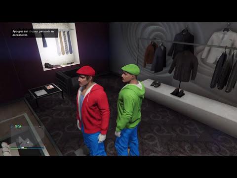 GTA V Costume insolite #17 Mario Et Luigi
