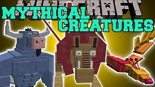 Minecraft: MYTHICAL CREATURES (MANTICORE, PHOENIX, MINOTAUR&MORE!) Mod Showcase