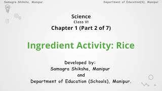 Chapter 1 (Part 2 of 7) Ingredient Activity: Rice