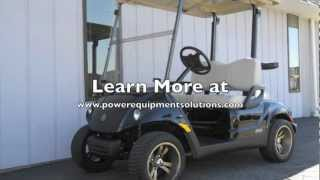 1. 2012 Yamaha DRIVE PTV Fuel-Injected Gas Golf Cart Black Onyx