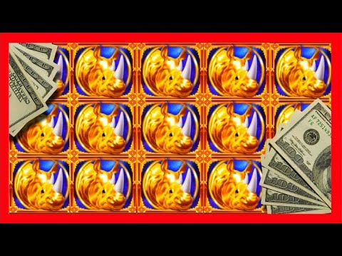HUGE WIN!!! LIVE PLAY and Bonuses on Rhino Charge Slot Machine