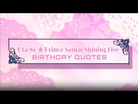 UtaPri: Shining Live - Player Birthday Messages
