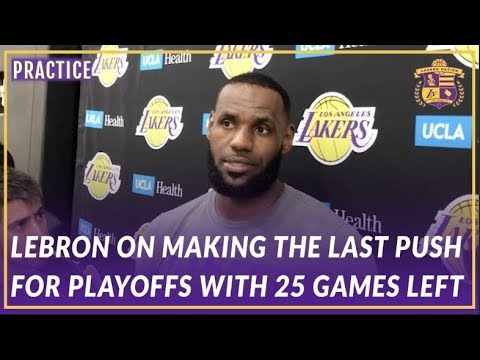Video: Lakers Interview: LeBron on Making A Push For Playoffs and How He likes Feeling Uncomfortable