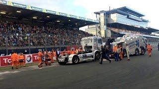 Le Mans France  City pictures : FIA ETRC truck crash 2nd race Le Mans France