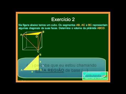 Matemática - Aula 68 - Geometria Espacial Métrica - Pirâmides - Parte 2 - Final
