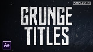 Inspired by the new Justice League trailer, we create grunge titles in this After Effects motion graphics tutorial. When you create titles, you do not have to go over the top and design 3D with lens flares and explosions. Sometimes subtle can go a long way. In this tutorial we will use After Effects to use simple techniques and use textures to make our grunge titles. We even go further into designing a full animation for our titles. Download Project Files Here:http://www.sonduckfilm.com/tutorials/after-effects-create-grunge-titles/Music From PremiumBeat:https://www.premiumbeat.com/Visit our website https://www.sonduckfilm.com for more tutorials, giveaways and film and photo gear! Support us on Patreon: https://www.patreon.com/sonduckfilmSocial Media:Drop a like on Facebook: https://www.facebook.com/sonduckfilmHit me up on Instagram: http://instagram.com/sonduckfilmFollow me on Twitter: https://twitter.com/SonduckFilmConnect with me on Linkedin: https://www.linkedin.com/in/joshnoelSuggested After Effects Tutorials:Animated Icons: https://youtu.be/OZFuYj_ohWwWord Morph: https://youtu.be/Nc2w1Kt3XjETypography Titles: https://youtu.be/eruPaWT0aNs3D Light Text Stroke Effect: https://youtu.be/r4hYFOcRwoYIllustrator to After Effects Vectos: https://youtu.be/YGBRpCOtjNMClean Lower Thirds: https://youtu.be/aEt2yxs17IU
