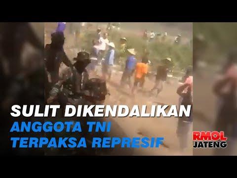 Warga Sulit Dikendalikan, Anggota TNI Terpaksa Represif