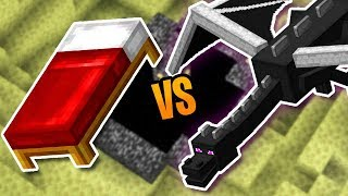 Defeating The Ender Dragon With Beds In Minecraft Survival (#12)