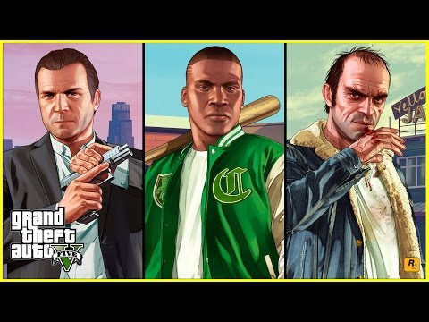 GTA 5 Mods Gameplay : Switching Between Michael Franklin And Trevor In Free Mode (Three Man Army)