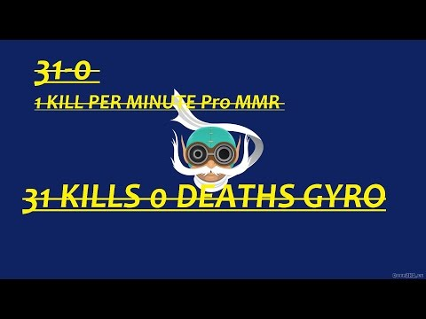 Dota 2 Gyrocopter 31-0 !!! Ranked MMR 1 Kill Per Minute!