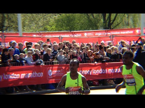 Tsegaye Kebede - Last years winner TSEGAYE. KEBEDE took 3RD IN A TIME OF 2:06:30 while AYELE ABSHERO took 4TH IN A TIME OF 2:06:31 London marathon 2014.