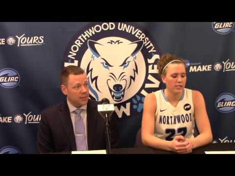 Northwood University Women's Basketball (2/13/16) NU 84, GVSU 74 - Press Conference