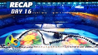 Rio Olympics 2016 highlights, results, & closing ceremony recap! Day 16 of the Rio Olympics 2016 & the closing ceremony have finished, so I am again simplifying the hours upon hours of sports shown on TV today to a short video featuring the highlights, gold medal winners, and world records broken, if any.This is a video for the Rio Olympics on August 21, 2016, and is the final compilation video for the Olympics on this channel, since today was the last day of events.Make sure to subscribe to Culture Vulture for more videos:https://www.youtube.com/c/culturevultureHighlights:The Rio Olympics 2016 closing ceremonyGold medal winners:Eliud Kipchoge of Kenya wins Gold in Men's marathonUSA wins Gold in Men's basketball, def. Serbia 96-66Claressa Shields of USA wins Gold in Women's middleweight boxingShakhobidin Zoirov of Uzbekistan wins Gold in Men's flyweight boxingFazliddin Gaibnazarov of Uzbekistan wins Gold in Men's light welterweight boxingTony Victor James Yoka of France wins Gold in Men's super heavyweight boxingNino Schurter of Switzerland wins Gold in Men's cross-country cyclingDenmark wins Gold in Men's handball, def. France 28-26Russia wins Gold in group all-around gymnasticsBrazil wins Gold in Men's volleyball, def. Italy 3-0Soslan Romanov of Russia wins Gold in Men's 65kg freestyle wrestlingKyle Frederick Snyder of USA wins Gold in Men's 97kg freestyle wrestlingOlympic records / world records broken:No records were broken today.Top 10 countries with the most medals in total, AKA the final results of Rio 2016:USA: 121China: 70Great Britain: 67Russia: 56Germany: 42France: 42Japan: 41Australia: 29Italy: 28Canada: 22Are you watching the Rio Olympics 2016 on TV? If so, what do you think about the last day of games and the overall medal winners? What was the best part of day 16? My guess for most of you is probably the Olympics closing ceremony, but if you have a lot of national pride, it could be about somebody from your own country ending the Olympics with a gold 