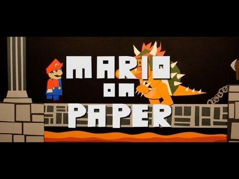 電玩超級瑪莉竟然是用紙做的,對付魔王庫巴難道要拿剪刀嗎?