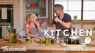 Richard Blais' Pretzel Bun Burger I Kitchen Little by Tastemade