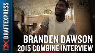 Branden Dawson 2015 NBA Draft Combine Interview
