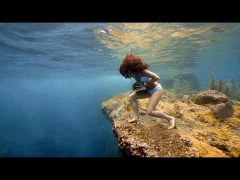 София Гомез - мировая рекордсменка по фридайвингу совершила забег с камнем по дну океана