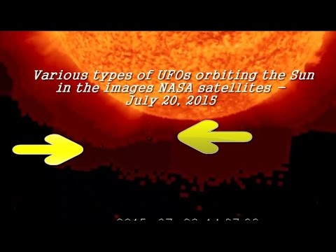 various types of ufos orbiting the sun in the images nasa satellites!