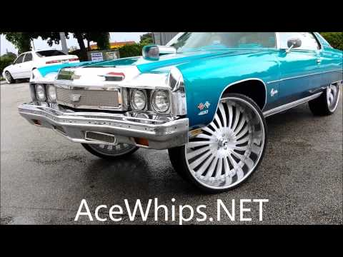 AceWhips.NET- Kstunna's Candy Teal 73 Chevy Caprice on Brushed 30