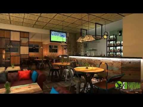 3D Bar Interior Design and Architectural walkthrough Animation