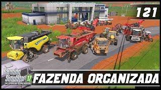 ORGANIZANDO OS MAQUINÁRIOS DA FAZENDA!   FARMING SIMULATOR 17 PLATINUM EDITION #121 [PT-BR]