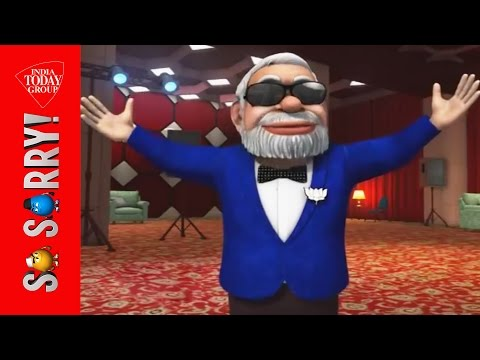 so - BJP prime ministerial candidate Narendra Modi woos voters of Varanasi with a rendition of the popular Hindi song 'Main Hoon Don'.