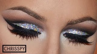 New Years Eve Silver Glitter Tutorial - YouTube
