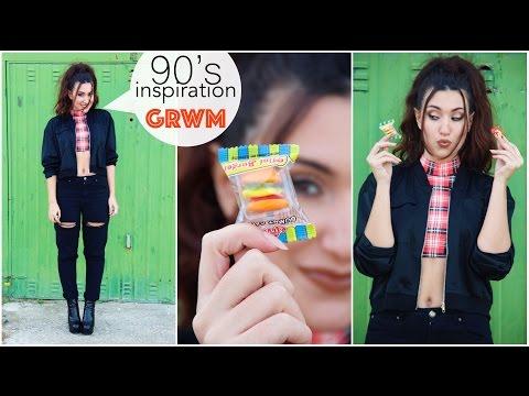1990's inspiration GRWM || Retour vers les années 90 ; make up, coiffure, tenue !