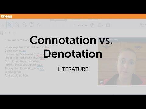 Definition Of Connotation Vs Denotation Chegg
