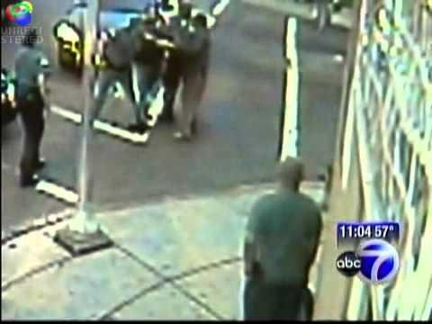 Policjanci pobili czarnoskórego dziadka