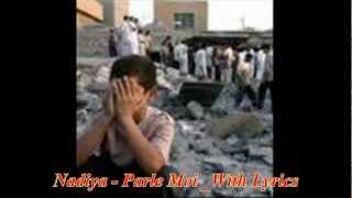 nâdiya - parle moi with lyrics