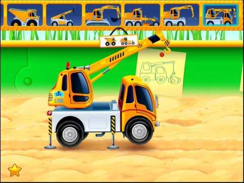 Autos im Sandkasten - Kleinkinder App | BesteKinderApps.de