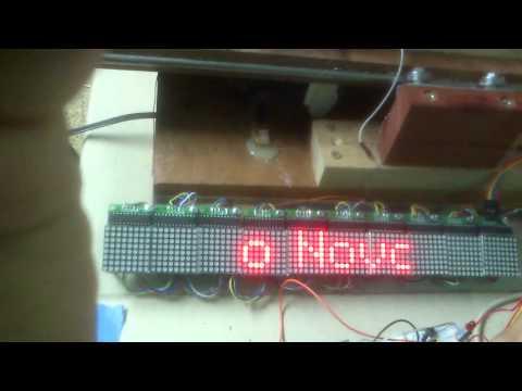 Max7219+ATMEGA328 + LED matrix 8x80