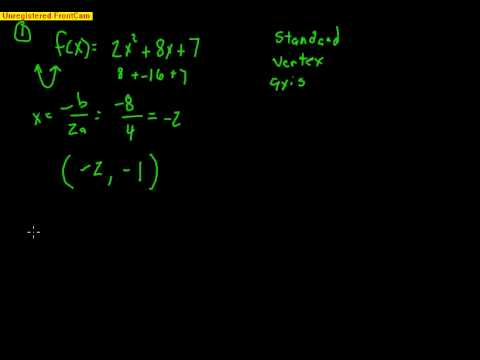 Pre-Calculus: Section 2.1 – Quadratic Functions