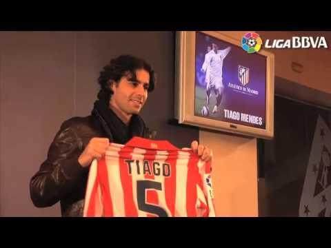 Presentación en el Atlético de Madrid