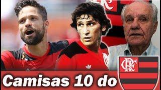 Diego, Zico e Evaristo de Macedo: três gerações de camisas 10 do Flamengo se encontram