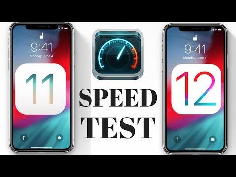 IOS 11 VS IOS 12 SPEEDTEST - HOW FAST IS IOS12?
