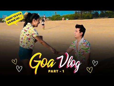 Our First Trip Together❤️    Goa Vlog part-1    Mohak Narang ft. Surbhi Rathore