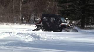 10. POLARIS RZR 4 800 LE 2012 in deep snow with Commander TREX UTV.m2ts